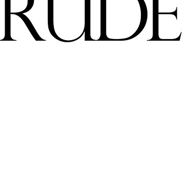Rude by jimmynails