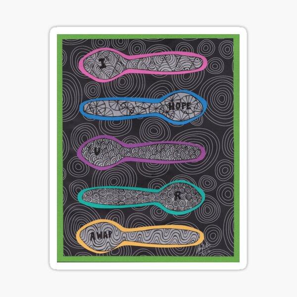 Sending Spoons - I Hope You Are AWAP Sticker