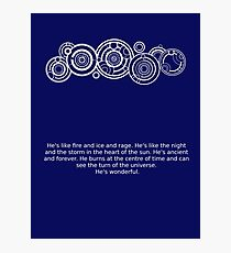 The Doctor's name and quote Photographic Print