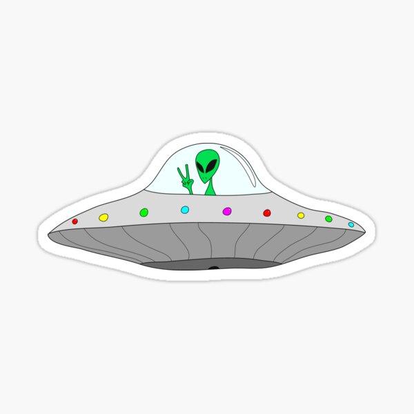 platillo volador paz extraterrestre Pegatina