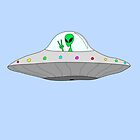 flying saucer peace alien by myacideyes
