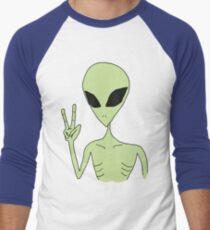 Frieden Alien Baseballshirt mit 3/4-Arm