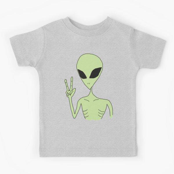 peace alien Kids T-Shirt