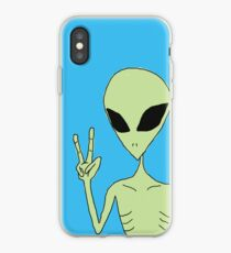 peace alien iPhone Case