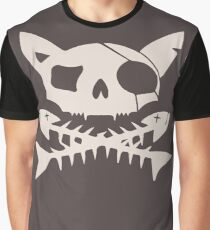 Cat Pirate Jolly Roger Graphic T-Shirt