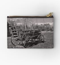 Chuckwagon at Ft. Bridger (Copper-Red Toned) Studio Pouch