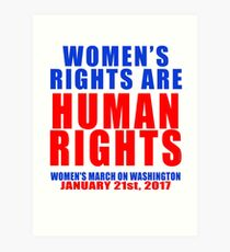 Womens' Rights are Human Rights Unisex Art Print