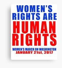 Womens' Rights are Human Rights Unisex Canvas Print