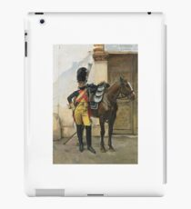 François Flameng  FRENCH AN ELITE SOLDIER OF THE IMPERIAL GUARD iPad Case/Skin