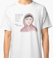 Malala Yousafzai - Voices (color) Classic T-Shirt