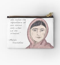 Malala Yousafzai - Voices (color) Zipper Pouch