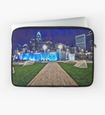 charlotte skyline behind romare bearden park Laptop Sleeve