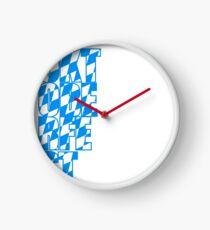 Oktoberfest text flag blue white pattern party celebrate design cool Clock