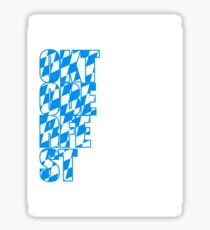 Oktoberfest text flag blue white pattern party celebrate design cool Sticker