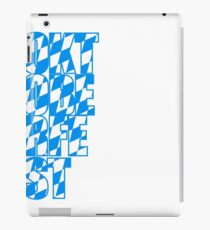 Oktoberfest text flag blue white pattern party celebrate design cool iPad Case/Skin
