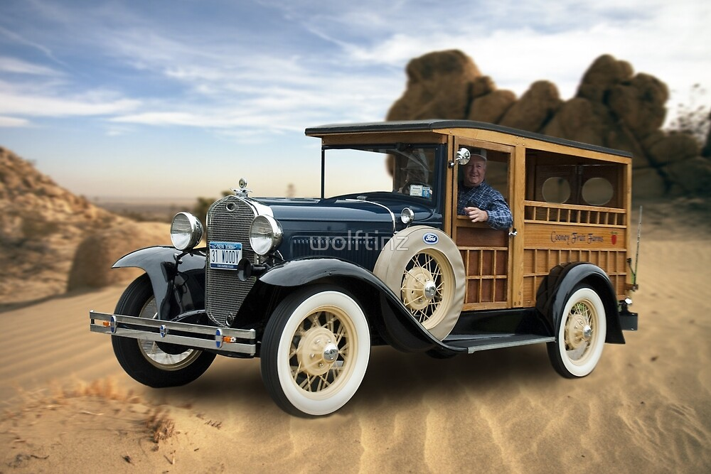 """California Dreamin'- Model A """"Woody"""" by wolftinz"""