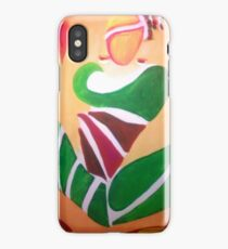 FOLK IN GREEN iPhone Case