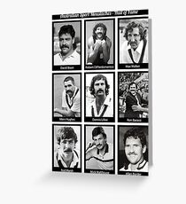 Aussie Moustache Hall of Fame by Decibel Clothing Greeting Card