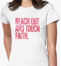 Reach Out and Touch Faith Women's Fitted T-Shirt