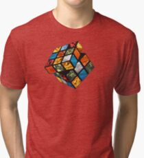 Rubix Cube design  Tri-blend T-Shirt