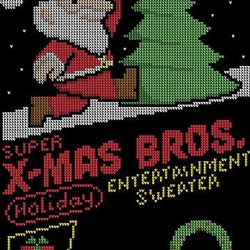 Super X-Mas Bros by vonplatypus