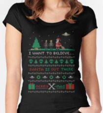 Merry X-Mas Women's Fitted Scoop T-Shirt