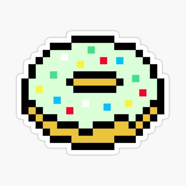 Stickers Sur Le Theme Pixel Doughnut Redbubble