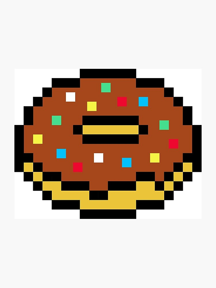 Chocolate Pixel Doughnut Photographic Print