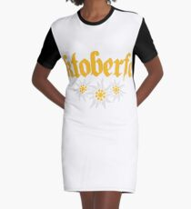 oktoberfest edelweiss flower bavaria party celebrate text shirt cool design Graphic T-Shirt Dress