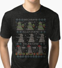 Decorate! Illuminate! Celebrate! Tri-blend T-Shirt