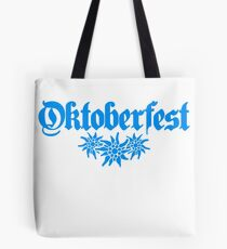 oktoberfest edelweiss flower bavaria party celebrate text shirt cool design Tote Bag