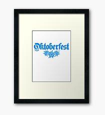 oktoberfest edelweiss flower bavaria party celebrate text shirt cool design Framed Print
