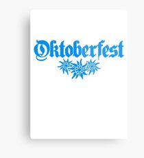 oktoberfest edelweiss flower bavaria party celebrate text shirt cool design Metal Print