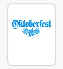 oktoberfest edelweiss flower bavaria party celebrate text shirt cool design Sticker
