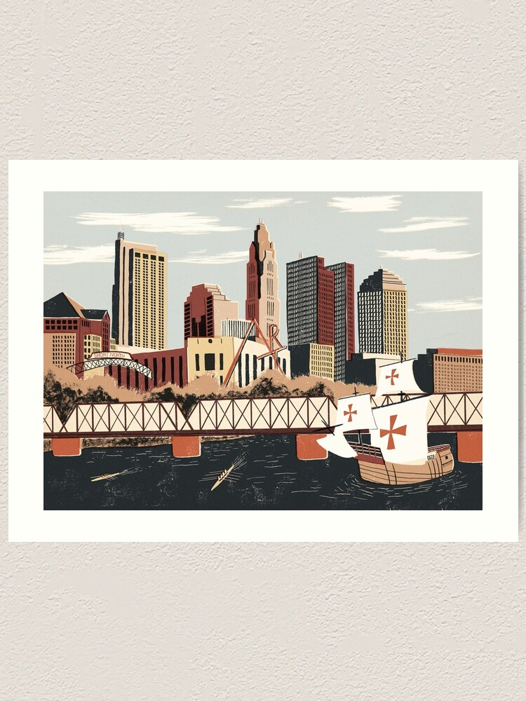 Alternate view of Columbus, Ohio Art Print