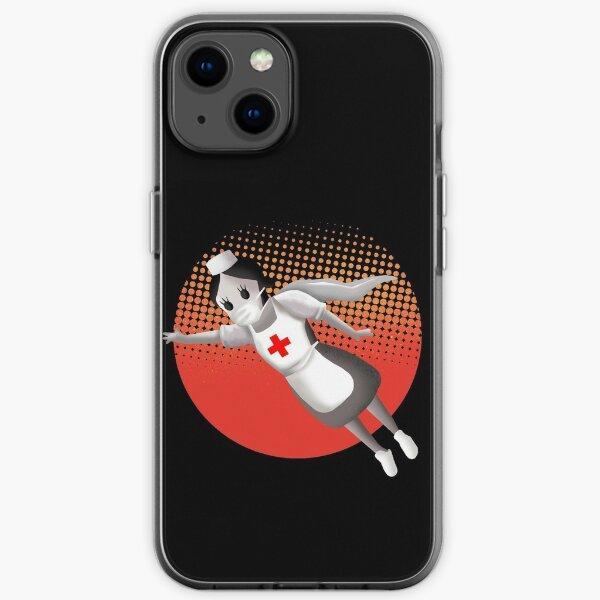 Banksy superhero nurse iPhone Soft Case