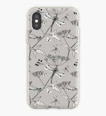 dragonflies - silver grey iPhone Case