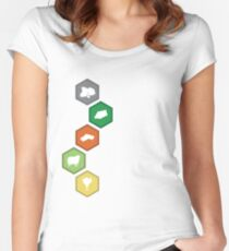 Settlers of Catan - Resource Tiles Women's Fitted Scoop T-Shirt