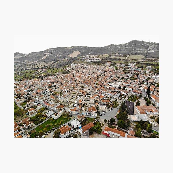 Pano Lefkara Village Cyprus Photographic Print