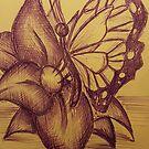 Purple butterfly  by KathHanthorneAr