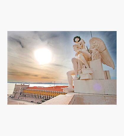 the Angel at Rua Augusta Triumph Arch. Photographic Print