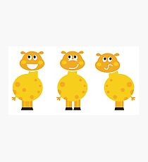 New in shop : Yellow giraffe cartoon characters Photographic Print