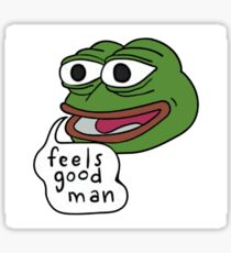 feels good man Sticker