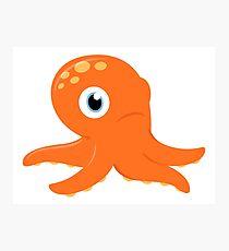 Orange underwater Octopus : for Kids Photographic Print