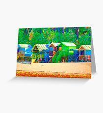 Beach Hut Escape Greeting Card