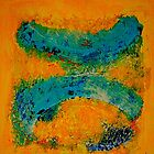 Abstract in Yellow by Sabine Jacobsen [SJArt]