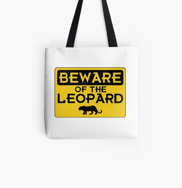 Beware of the Leopard All Over Print Tote Bag