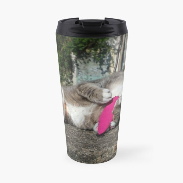 Chilling cat Travel Mug
