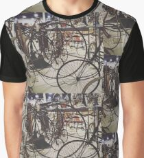 Antique Bicycles Graphic T-Shirt