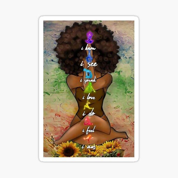 Black Girl Yoga Special HUH Sticker